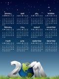 Calendario inglese per l'anno 2011 Fotografia Stock Libera da Diritti
