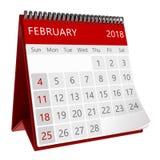 calendario isolato 3d Fotografia Stock Libera da Diritti