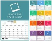Calendario italiano 2017 Illustrazione di Stock