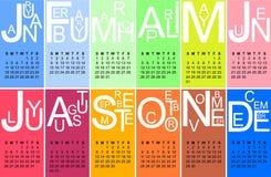 Calendario jazzistico 2015 Immagine Stock Libera da Diritti