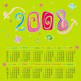 calendario lindo 2008 Imagen de archivo libre de regalías