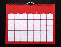 Calendario llano Imagenes de archivo