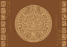 Calendario maya Fotografia Stock