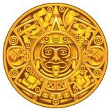 Calendario maya stock de ilustración