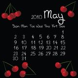 Calendario, mayo de 2010 Imágenes de archivo libres de regalías