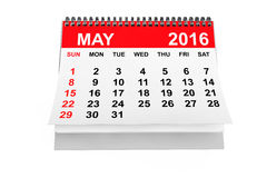 Calendario mayo de 2016 Foto de archivo