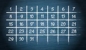Calendario mensual con 31 días stock de ilustración