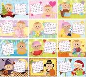 Calendario mensual del bebé para 2011 Fotos de archivo libres de regalías