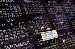 Calendario moderno Fotografia Stock Libera da Diritti