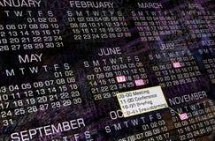 Calendario moderno Fotografía de archivo libre de regalías