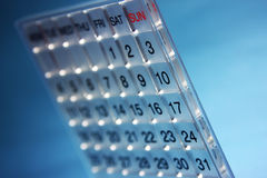 Calendario moderno Imagen de archivo libre de regalías