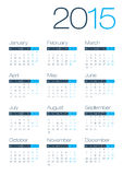 Calendario moderno e pulito di affari 2015 Fotografie Stock
