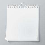 Calendario murale in bianco con la molla Fotografia Stock Libera da Diritti