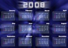 Calendario nello stile fantastico Fotografie Stock