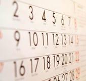 Calendario - organizzatore fotografie stock