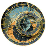 Calendario-orologio isolato Fotografia Stock