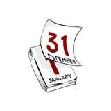 Calendario. Pagina nuova di giro royalty illustrazione gratis