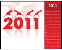 Calendario para 2011 Imagen de archivo libre de regalías