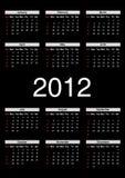 Calendario para 2012 Fotografía de archivo libre de regalías