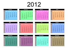 Calendario para 2012 Imagenes de archivo