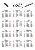 Calendario para 2012 en alemán Foto de archivo libre de regalías