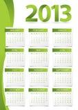 Calendario para 2013 Fotografía de archivo