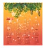 Calendario para 2014 Fotografía de archivo