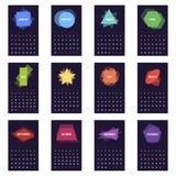 Calendario para 2016 stock de ilustración