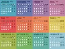 Calendario para 2018 comienzos lunes, diseño del calendario del vector 2018 años Foto de archivo libre de regalías