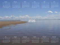 Calendario para 2020 ilustración del vector