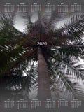 Calendario para 2020 foto de archivo