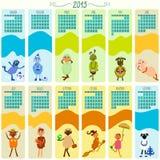 Calendario para 2015 con la historieta y las ovejas divertidas libre illustration