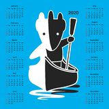 Calendario para 2020 libre illustration