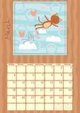 Calendario para marzo de 2012 Imágenes de archivo libres de regalías