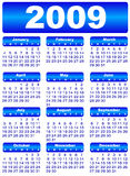 Calendario per 2009 Fotografie Stock