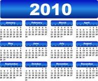 Calendario per 2010 Fotografia Stock Libera da Diritti