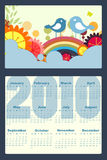 Calendario per 2010 Immagine Stock