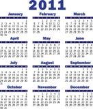 Calendario per 2011 Fotografie Stock