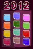 Calendario per 2012 Immagini Stock