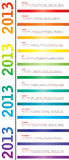 Calendario per 2013 Fotografia Stock