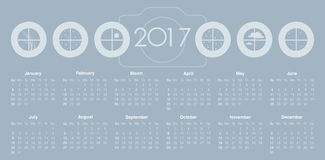 Calendario per 2017 illustrazione di stock
