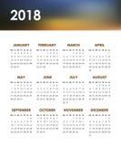 Calendario per 2018 anni Immagini Stock Libere da Diritti