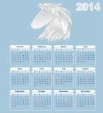 Calendario per 2014 anni. Fotografie Stock Libere da Diritti