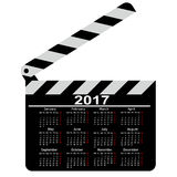 Calendario per 2017, bordo di valvola di film Illustrazione di vettore Fotografie Stock Libere da Diritti