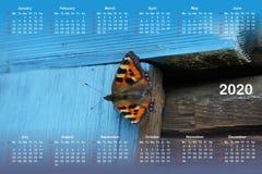 Calendario per 2020 royalty illustrazione gratis