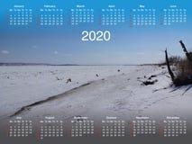 Calendario per 2020 fotografia stock libera da diritti