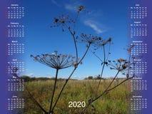 Calendario per 2020 fotografie stock