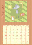 Calendario per il novembre 2012 royalty illustrazione gratis