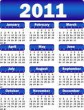 Calendario per l'azzurro 2011 Immagine Stock