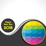 Calendario 2018 per la celebrazione del nuovo anno fotografie stock